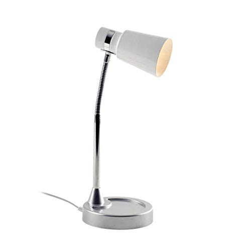 Lampe De Bureau Flexible Lily Noire En Métal