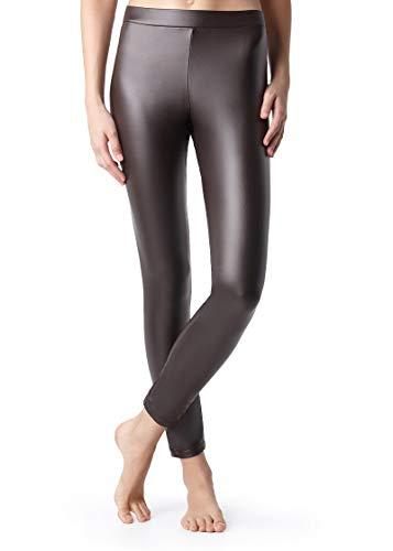 Calzedonia Damen Leggings mit Leder-Effekt