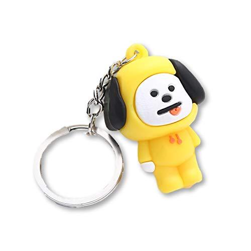 Kpop BTS BT21 3D Schlüsselanhänger Schlüsselanhänger, Schlüsselanhänger, Bangtan Boys Cartoon Schlüsselanhänger, Zubehör, Chimmy, Einheitsgröße -