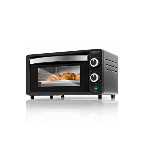 Cecotec Horno Conveccion Sobremesa Bake&Toast 450. Capacidad de 10 litros, 1000 W, Temperatura hasta 230ºC y Tiempo hasta 60 Minutos, Perfecto para Panini y Bollería, Incluye Bandeja Recogemigas