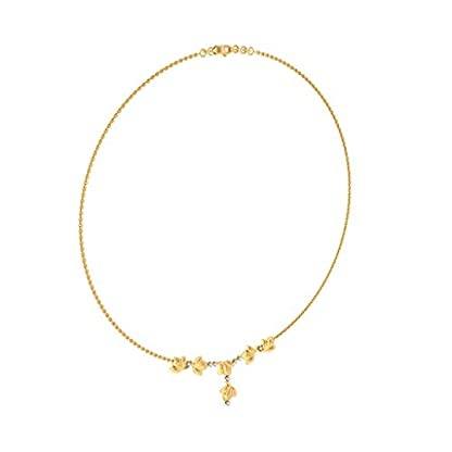 BlueStone 18k (750) Yellow Gold and Diamond Modernize Flora Chain Necklace