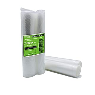 Vacuum rolls 2 rolls at 30x600cm Vacuum roll embossed Foil roll vacuum Suitable for Caso, Lava, Allpax, Valko, ROMMELSBACHER and many more