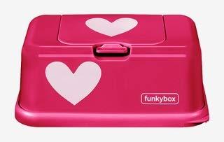 Funkybox Feuchttücher Box pink- Herz