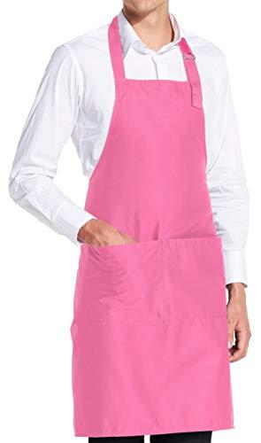 vanVerden - Premium Schürze - Pink Blanko - Pinke Latz-Schürze -