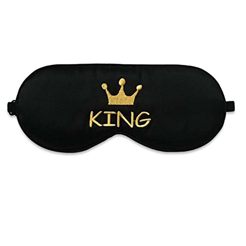Couvre-masque de sommeil en soie douce King Style
