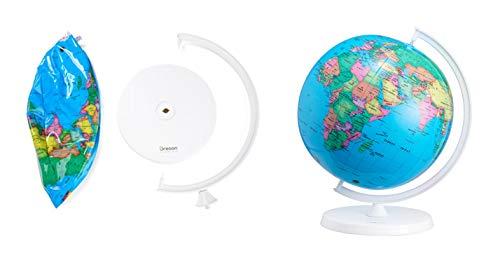 Oregon Scientific Smart Globe Air - Globo Hinchable con Soporte de Mesa