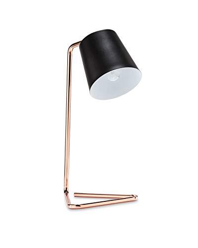 LED Tischleuchte Vintage Kupfer 4W fast 40W E14 Filament Kerze klar schwarz Retro Industrie Design Metall Tischlampe (E14 Fassung) - Design Lampe Kerze