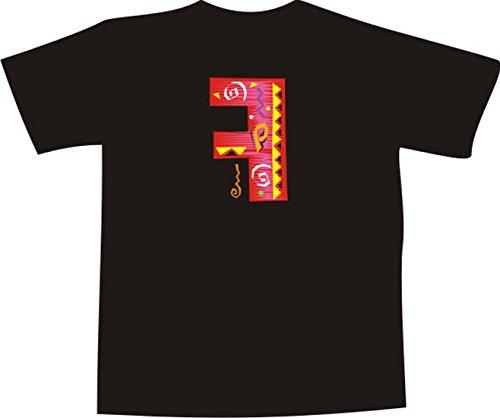 T-Shirt F325 Schönes T-Shirt mit farbigem Brustaufdruck - F Karikatur Weiß