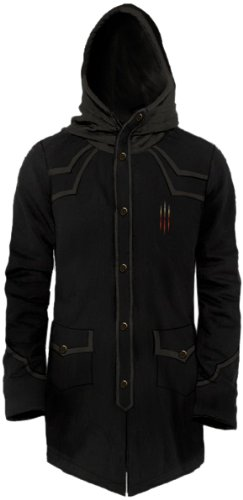 Diablo-III-Fleece-Long-Hooded-Deamon-Hunter-Coat-XL