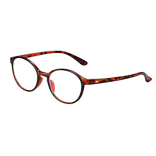 Aroncent Lesebrille Lesehilfe Sehhilfe Computer Lesebrille Augenoptik Arbeitsplatzbrille Anti Blue Rays UV400 Leser Brille Leopard für Damen Herren