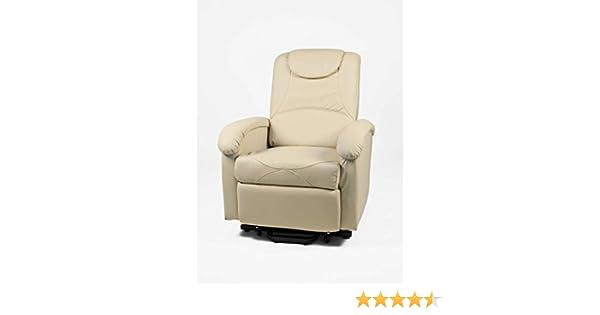 Poltrona relax elettrica beige con alza persona e massaggio: amazon