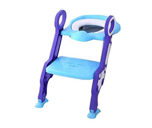 CTO Kinder-Wc-Leiter-Toilette Kind Urin Töpfchenstuhl Kind Wc-Sitz Faltbar Mit Armlehne Halterung Geeignet Für 1-7 Jahre Alt,A,Geländer