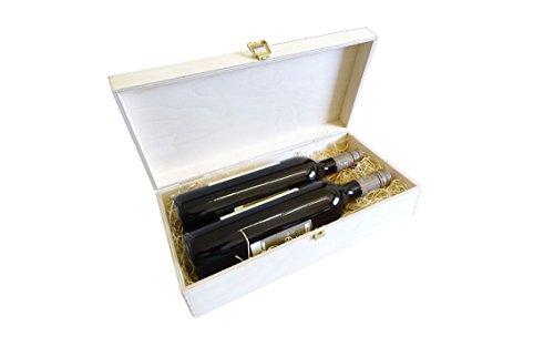 Klappkiste aus Holz, Weinkiste mit Klappdeckel, Aufbewahrungsbox (2er Klappkiste 360 x 180 x 90)