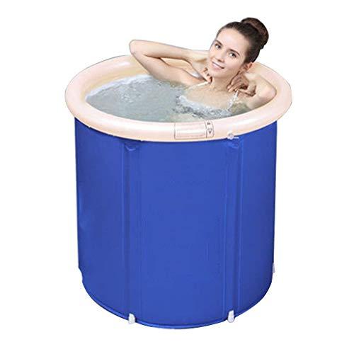RUIMA Faltbare Badewanne Badewanne Badewanne Badewanne Aufblasbare Badewanne Verdicken Große Kunststoffbadewanne Blau 70 * 70 (Size : 70 * 70 * 80cm)
