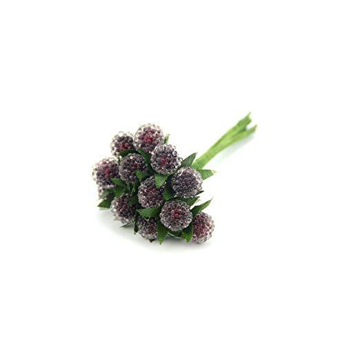 Tiamo Violet Künstliche Obst 12st Artificial Glas Beeren Obst Kunststoff Obst für Home Hochzeit Dekoration, orange