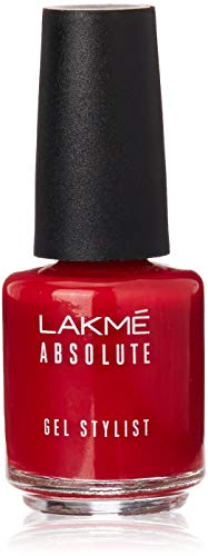 Lakme Absolute Gel Stylist Nail Color, Scarlet Red, 15 ml