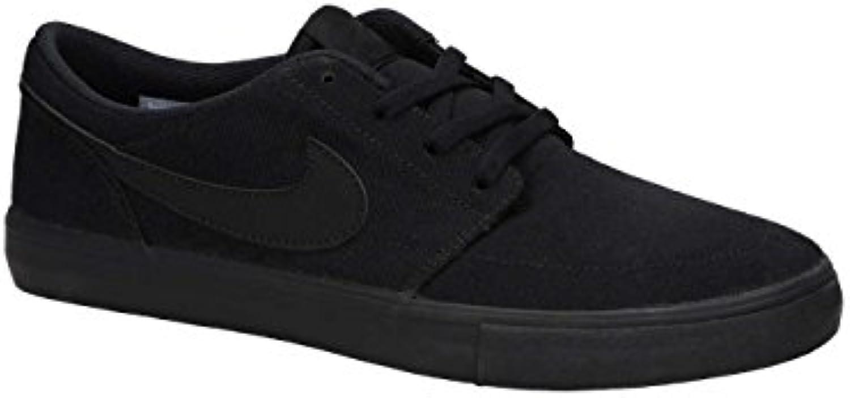 Nike Sb Portmore Ii Solar Cnvs, Zapatillas de Skateboarding para Hombre, Negro (Black/Black 001), 40 EU  -