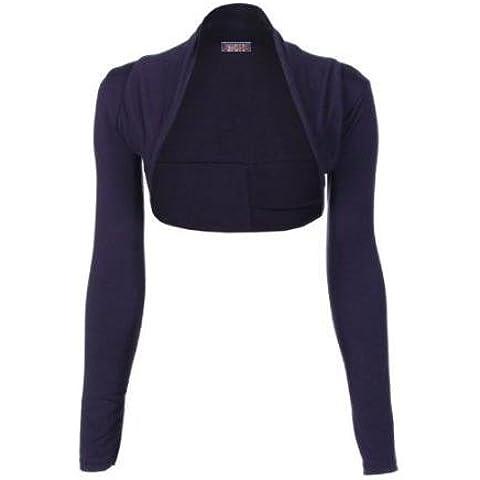 Mix plain Direct Hardware traje de neopreno para mujer de manga larga para boleros Toreras en la parte superior y para mujer trendy tamaño de la funda de chaqueta casual wear