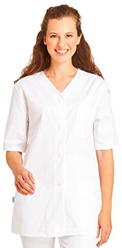 clinicfashion 10110053 Kurzkasack weiß für Damen, Baumwolle, Größe 56