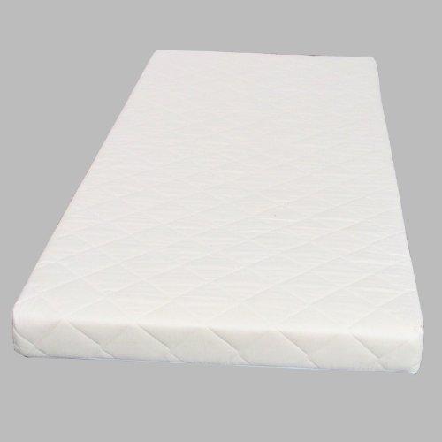 Dynamic24 Federkernmatratze 90x200 Bonell Federkern Matratze medium waschbar weiß