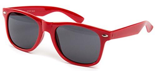 Ciffre Nerdbrille Sonnenbrille Pilotenbrille Nerd Atzen Brille Brillen Rot Dunkle Glässer