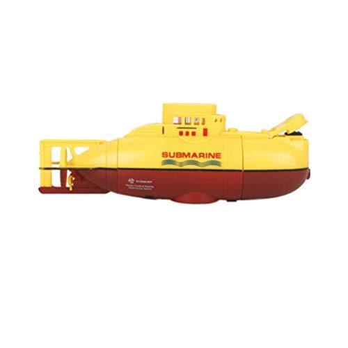 Honey-fruit Mini-U-Boot, nautisches Modell USB-Lade- / Fernbedienungsboot, elektrisches Hochgeschwindigkeits-U-Boot, Kinderspielzeug,Yellow -