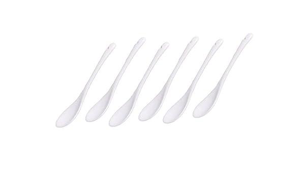 Dessertl/öffel 6 Porzellan-L/öffel wei/ß L/änge 12,5 cm Teel/öffel Portionsl/öffel Eierl/öffel