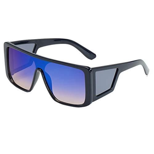 Herren Damen Sonnenbrille Seitenschutz Brille Trendige Persönlichkeit Sonnenbrille HOOPERT (C)