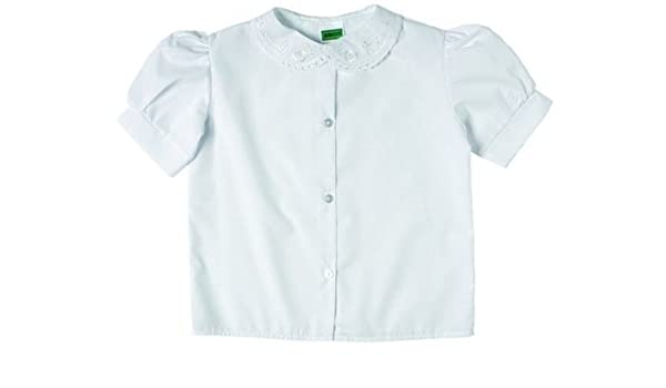 149f17a41 Zeco Girls School Wear SHORT Sleeve Lace Collar Blouse-White-30 Chest:  Amazon.co.uk: Clothing