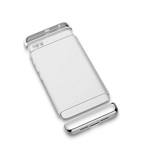 Custodia Xiaomi Mi 5, Bonice Xiaomi Mi 5 Cover,Staccabile Peso Leggero Hard Back Case lusso Metallo Ultra cornice Slim Light Matte Pratico Angolo protettivo Bumper Shock-Absorption Anti-Scratch- argento