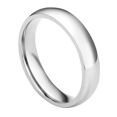 Personalized Master Gravur Unisex Edelstahl Ring Damen Herren Verlobungsring Paar Bandring Silber Bogenfläsche - Größe US 5.5-13, 50-70mm (57 (18.1)) - 11 Damen-verlobungsringe, Größe