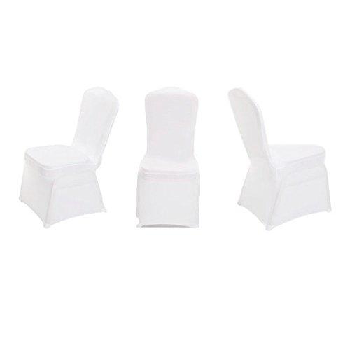 Pixnor coprisedia bianca di matrimonio flessibile coprisedia decorazione nozze (bianco)