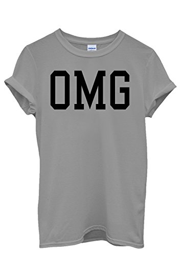 OMG Cool Hipster Funny Baseball Men Women Damen Herren Unisex Top T Shirt Grau