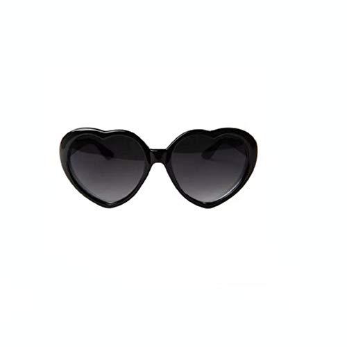 shixiaodan Sonnenbrille für Damen Retro Funny Love-Herz-Form-Sonnenbrille
