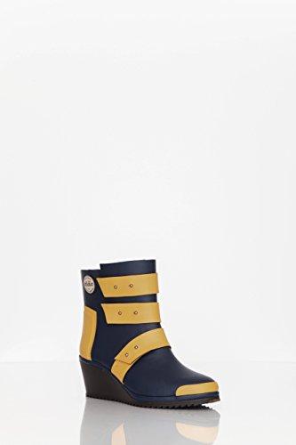 Nokian Footwear by Julia Lundsten - Stivali di gomma -Strap Wedge- (Originals) [SW130] blu scuro, arancio
