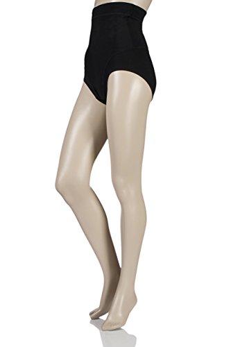 Damen 1 Packung Charnos Formwäsche Sleek Mikrofaser Firming hohe Taillen-Slip Schwarz