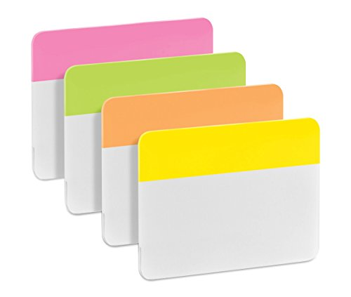 Post-it 686- PLOY Index Strong - Banderitas separadoras (4 colores x 6 unidades, 50,8 x 38 mm), color rosa, verde, naranja y amarillo