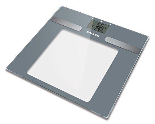 Salter Dashboard Analysewaage - BMI, BMR, Körperfettanteil, Körperwasseranteil, Muskelmasse, Knochenmasse, Personenspeicher für 10 Leute, Athleten Modus, Schlankes Design, Gehärtetes Glas, LCD Anzeige