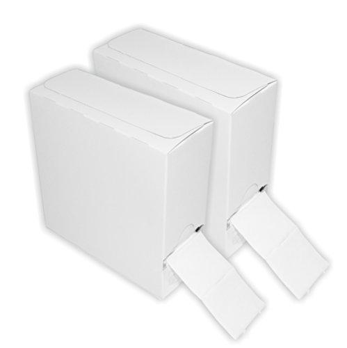 Doppelpack 250er Packung / Rolle Zelletten im neutralen Spenderkarton [2x 250 Stück]