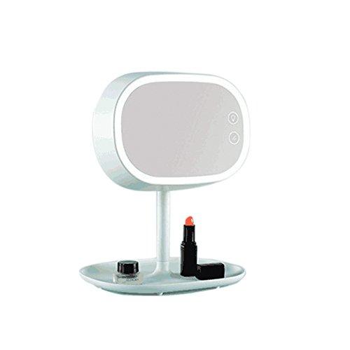 irealist Make-up-Kosmetikspiegel mit aufladbarer Tischlampe fürs Schlafzimmer grün