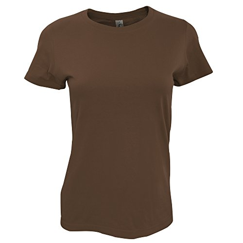 SOLS Imperial - T-shirt épais à manches courtes - Femme Kaki