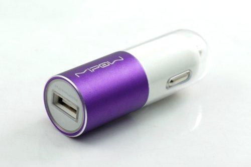 MiPow SPC01M-PU Premium Kfz-Ladegerät / USB-Autoladegerät inkl. Micro-USB-Kabel und USB-Buchse für Handy, Smartphone, MP3-Player, Tablet, Navigationsgeräte und portable Spielekonsolen pink