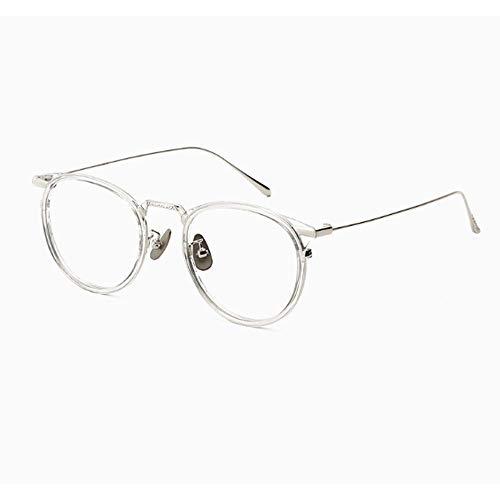 MASADFFA Transparente Brille Rahmen für Männer und Frauen Anti-Blue Light Eye Anti-Müdigkeit Flache Brillenmodelle