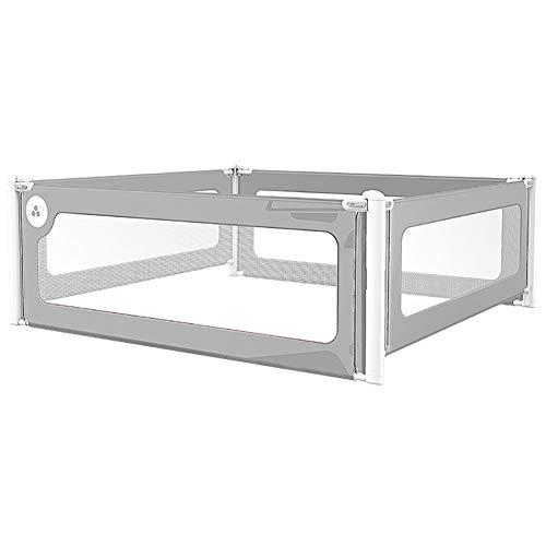 Barrière de sécurité pour bébé, barrière de sécurité anti-collision pour tout-petits, barrière de sécurité anti-renversement à 4 panneaux pour lit king-size (taille : 200×200cm)