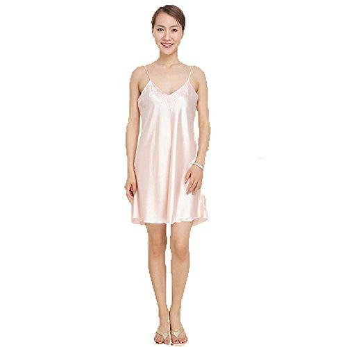 CHUNHUA Mesdames les bretelles en soie en soie chemise de nuit pyjamas, vêtements de nuit et pyjama pour ensemble de deux pièces de femmes , e , l f