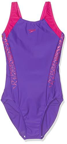 Speedo Mädchen Boom Splice Muscleback Badeanzug Royal Violett/Elektrisch Pink, ()
