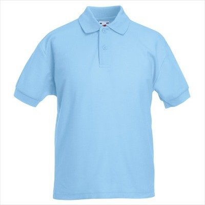 Fruit of the Loom - Kinder Poloshirt 'Piqué Polo 65/35' 152,Sky Blue (Pique Polo Ein Kind)