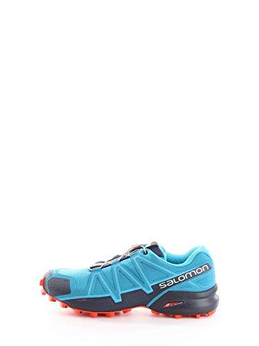 Salomon Speedcross 4, Scarpe da Trail Running Uomo, Blu (Fjord Blue/Navy Blazer/Cherry Tomato), 43 1/3 EU