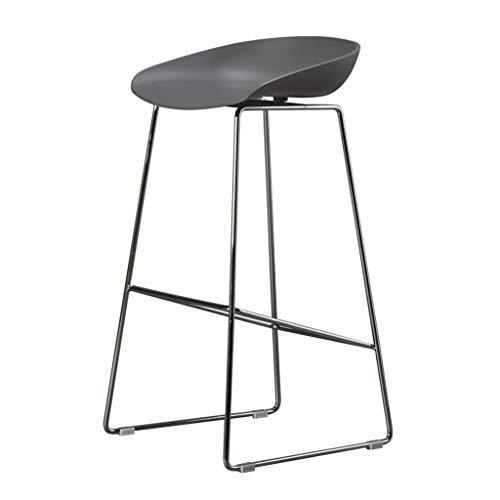 Comif-tabouret de bar Lässige Coffee Chair Edelstahl Barhocker, PP Engineering Kunststoffkissen, stabile Schmiedeeisen Rahmen mit rutschfesten Matte für Kitchen Pub (Sitzhöhe: 65 / 75cm)
