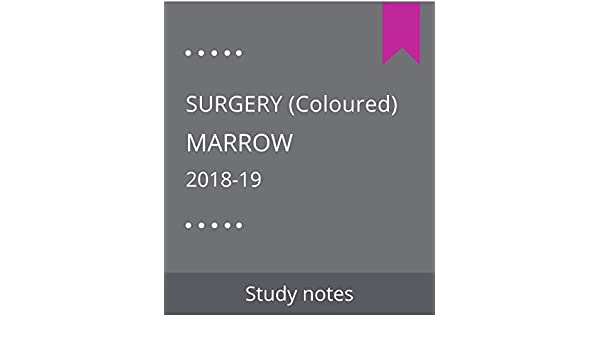 Buy Marrow : Surgery (2018-19) Coloured Book Online at Low Prices in